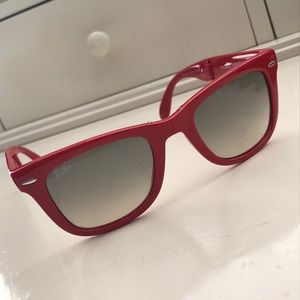 Red Folding Wayfarer Raybans